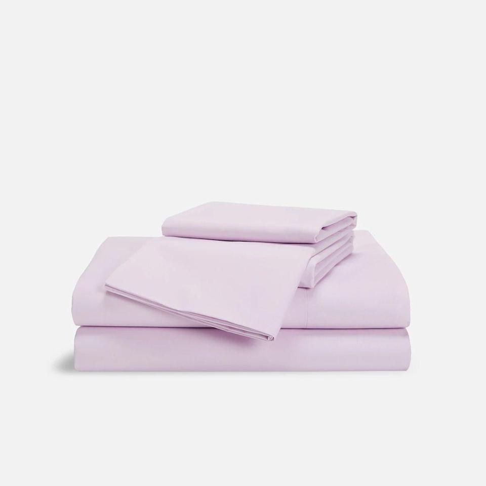 """<p><strong>Brooklinen</strong></p><p>brooklinen.com</p><p><a href=""""https://go.redirectingat.com?id=74968X1596630&url=https%3A%2F%2Fwww.brooklinen.com%2Fproducts%2Fluxe-hardcore-sheet-bundle%3Fvariant%3D24302663046&sref=https%3A%2F%2Fwww.bestproducts.com%2Fhome%2Fg36230872%2Fbrooklinen-birthday-sale-april-2021%2F"""" rel=""""nofollow noopener"""" target=""""_blank"""" data-ylk=""""slk:Shop Now"""" class=""""link rapid-noclick-resp"""">Shop Now</a></p><p><strong>Starting Sale Price: $108</strong><br></p><p>We highly recommend Brooklinen's Luxe Hardcore Sheet Bundle because of the sateen material's seriously impressive softness and durability that's <a href=""""https://www.bestproducts.com/home/a28278520/brooklinen-luxe-sateen-sheets/"""" rel=""""nofollow noopener"""" target=""""_blank"""" data-ylk=""""slk:held up beautifully through the years"""" class=""""link rapid-noclick-resp"""">held up beautifully through the years</a>. The set comprises a flat sheet, fitted sheet, duvet cover, and four pillowcases.</p><p>The 480-thread-count construction makes them breathable and light, while still keeping that smooth and silky feel that sateen is beloved for. They come in all standard sheet sizes and in a range of colors and patterns — we love that you can mix and match your sheets to your duvet cover to your pillowcases.</p><p><strong>More:</strong> <a href=""""https://www.bestproducts.com/home/decor/a14426287/reviews-best-bed-sheets/"""" rel=""""nofollow noopener"""" target=""""_blank"""" data-ylk=""""slk:These Are All the Best Bed Sheets We've Ever Tried"""" class=""""link rapid-noclick-resp"""">These Are All the Best Bed Sheets We've Ever Tried</a></p>"""