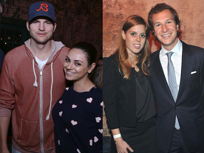mila kunis ashton kutcher princess beatrice