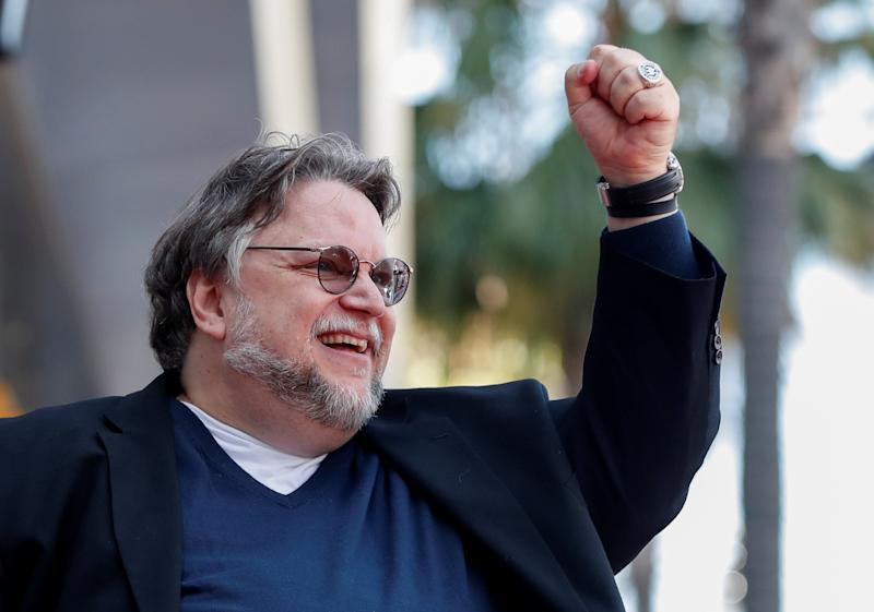 Mexican director Guillermo del Toro gestures during the unveiling of his star on the Hollywood Walk of Fame in Los Angeles, California, U.S., August 6, 2019. REUTERS/Mario Anzuoni