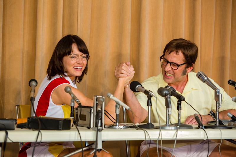 "Emma Stone and Steve Carell star in ""Battle of the Sexes. (Fox Searchlight)"