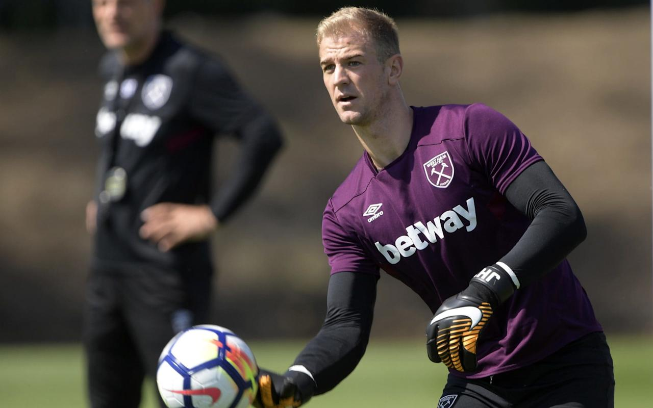 "Joe Hart was sporting an impressive black eye as he sat down to speak about his return to England with West Ham United. ""My induction was to have a fight with Andy [Carroll],"" said goalkeeper Hart. ""No, I spread for the ball on Tuesday. I get hit in the face quite a lot, but this is the first time it has actually marked me. Andy hasn't come off worse than me, no."" Joking aside, it has been a bruising 12 months for Hart, who was immediately discarded by Pep Guardiola, the Manchester City manager, and spent last season on loan in Italy at Torino. With few Premier League clubs changing goalkeepers, Hart had to revise his preference to find a new permanent home this summer and accept another season-long loan move – this time at West Ham. ""The permanent was going to be difficult,"" said Hart, who will make his West Ham debut against Manchester United today. ""I don't think there were too many options for me to go on a permanent, if any. That was my ideal situation. Hart had a mixed spell in Italy last season ""When you've asked me questions I've always answered honestly and, ideally, I wanted to be signing a permanent deal somewhere, so I could set my life up and have a direction. ""But that wasn't meant to be and West Ham have been absolutely fantastic towards me, I can't be any more grateful for the opportunity they have given me. Slaven [Bilic] has come and [owners] Mr [David] Gold and Mr [David] Sullivan have come in and made their intentions clear that they want me to be here, and I'm over the moon to be a part of this club. ""There wasn't an awful lot of movement goalkeeper-wise this summer, so I'm very grateful to get this opportunity."" West Ham has been a good rehabilitation centre for English goalkeepers with a point to prove over the past few years. David James and Robert Green both resurrected their careers in London's East End, and Hart is looking to do the same. Hart is keen to impress England manager Gareth Southgate ""I know Rob and Jamo well,"" he said. ""Jamo actually said I'd love it here when I spoke to him. I want to add to that and be an England goalkeeper playing for West Ham, I really do, and that's my intention. ""But first and foremost I want to perform well for the club and see where that takes me. ""I reach out to a few people when I have decisions to make, I'm really lucky to have some sound advice from inside football and outside football, a lot of people I respect, and Jamo is certainly one of them. Everyone just said, 'It seems like a great opportunity and you need to grasp it'."" Every Claudio Bravo mistake at Manchester City last season met with claims that Guardiola should never have dumped Hart and the 30-year-old is sure to be compared with City's latest new goalkeeper, Ederson Moraes, this term. But Hart insists there are only two managers he is out to impress and Guardiola is not one of them. City signed Brazilian goalkeeper Ederson Moraes this summer ""I'm trying to make a point to Slaven Bilic, he's my coach,"" said Hart. ""I'm trying to make my point to Gareth Southgate, they're my coaches, they're the people whose opinions I care about."" Asked about the difficulties City have experienced trying to replace him, Hart added: ""That's their problem. I need to look after myself, I need to be selfish in this situation. ""My feelings for Manchester City will never change, I'm eternally grateful to them as a football club. They took me as a 19-year-old boy from Shrewsbury Town, took something of a punt on me and I've had some fantastic times there and built some really great relationships. The fans have been so supportive of me, even in the last year, and that's something that will never die with me. ""I will eternally have a link with them, but as far as the business side of it goes and new managers and new opinions, that's football, I just have to take it on the chin. There's no point me taking it too personally because it's not all about me. ""The game moves quickly, there are plenty of people who have been in my situation and you have two choices. You can either moan about it and you can make smart comments and try to work out why it was done, or you can just get on with it. I've taken the latter."" New kits 17/18 Hart revealed that his move to West Ham has received the backing of Southgate, the England manager, and that he is ready for a tough battle to keep his place in the national team ahead of next summer's World Cup. ""I've always said the standard of keepers in England is very high,"" said Hart. ""It's a privileged position to play for the country. Every single time I've put on that No 1 jersey I have been very proud and very excited for what comes with it. ""You've got Jack Butland and Jordan Pickford now at Everon. Big Fraser Forster has signed a new deal at Southampton and Tom Heaton has been nothing short of a miracle for Burnley with his performances. ""There are plenty of other English keepers in the Championship. It is tough to get into a Premier League team – I found that out myself this summer."" Hart faces a baptism of fire for West Ham at Old Trafford, where the Manchester United fans will still regard him as the enemy for his association to City. ""I'm probably going to get a similar reception to the one I usually get there, but it's business,"" said Hart. ""I want to go there and I want to win, that's all I want to do, whichever side of Manchester it is and whichever side of England it is. I'm going there to win. £250,000 up for grabs: pick your Telegraph Fantasy Football team today >>"