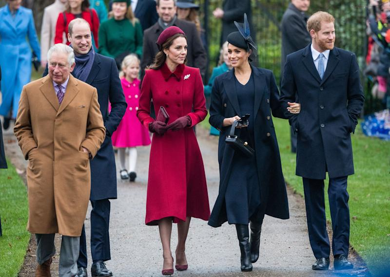 Meghan Markle, Prince Harry, and Royals outdoors