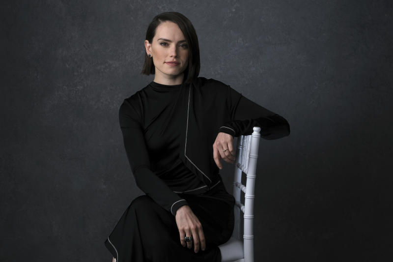 "Daisy Ridley poses for a portrait to promote the film ""Star Wars: The Rise of Skywalker"" on Tuesday. Dec. 3, 2019, in Pasadena, Calif. With ""Star Wars: The Rise of Skywalker"" opening in theaters Dec. 20, 2019,  Abrams expects more backlash. Especially since the new film — which he calls the ""aftermath of Luke Skywalker and his sister Princess Leia"" — is the final installment of a nine-part movie series that began 42 years ago (AP Photo/Chris Pizzello)"