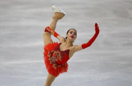 Figure Ice Skating - ISU Grand Prix of Figure Skating Internationaux de France - Pole Sud Ice Rink, Grenoble, France - November 18, 2017 Alina Zagitova of Russia performs during the Ladies Free Skating REUTERS/Robert Pratta