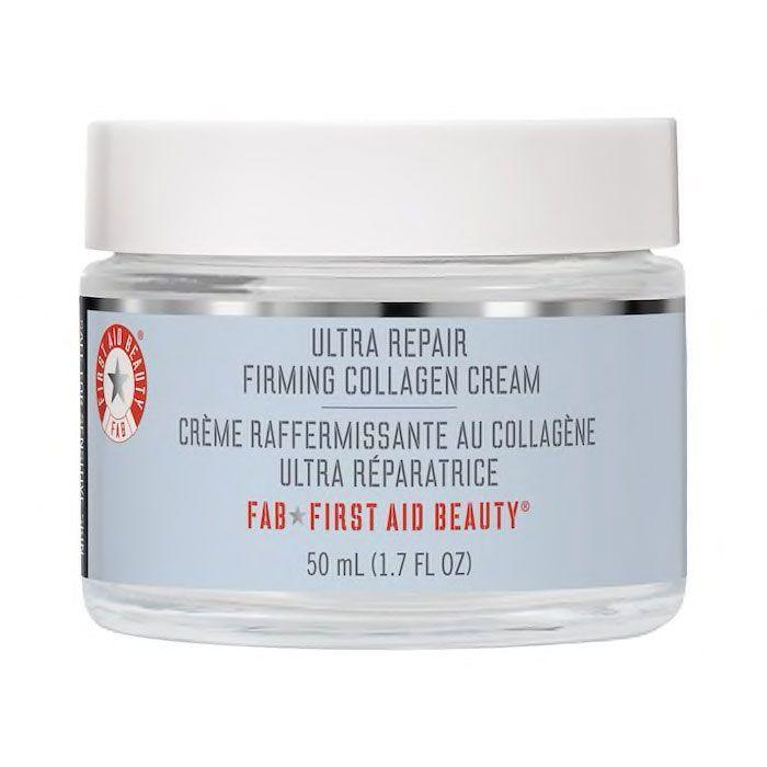 """<p><strong>First Aid Beauty</strong></p><p>sephora.com</p><p><strong>$42.00</strong></p><p><a href=""""https://go.redirectingat.com?id=74968X1596630&url=https%3A%2F%2Fwww.sephora.com%2Fproduct%2Ffirst-aid-beauty-ultra-repair-firming-collagen-cream-with-peptides-niacinamide-P468821&sref=https%3A%2F%2Fwww.harpersbazaar.com%2Fbeauty%2Fskin-care%2Fg36492997%2Fbest-collagen-creams%2F"""" rel=""""nofollow noopener"""" target=""""_blank"""" data-ylk=""""slk:Shop Now"""" class=""""link rapid-noclick-resp"""">Shop Now</a></p><p>Between the peptides and collagen for plump skin, niacinamide for even tone, and colloidal oatmeal to soothe and seal in moisture, this rich moisturizer has a little bit of everything your stressed-out skin needs.</p>"""