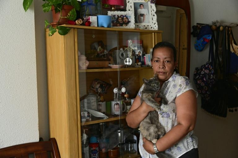 Honduran domestic worker Sonia Herrera is now managing to avoid the food banks in Madrid which made her feel 'a bit ashamed'