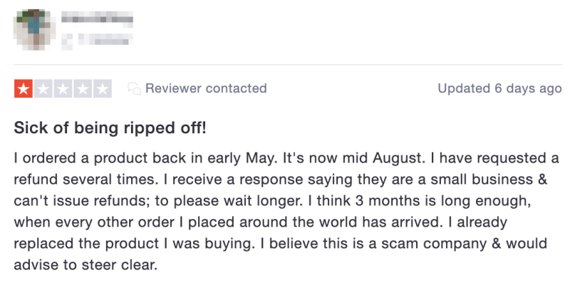 Fishpond customers have left angry reviews on various sites in recent weeks. Source: TrustPilot