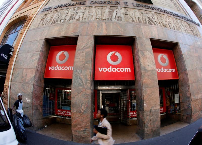 A branch South African mobile communications provider Vodacom in Cape Town