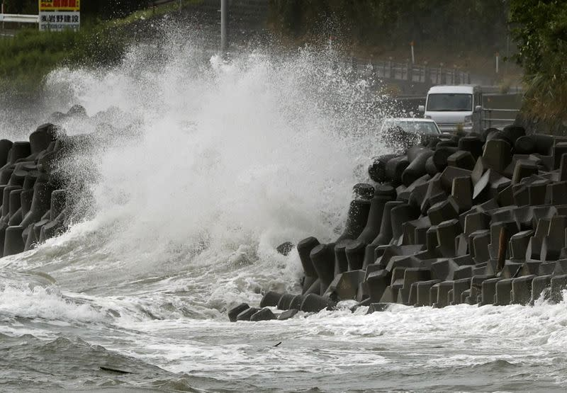 Typhoon Haishen hammers southern Japan with high winds and power outages
