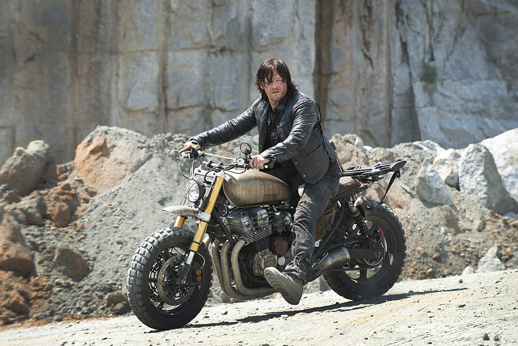 <p>Grungy, crossbow-toting, motorcycle-riding Daryl Dixon has become a fan favorite over the seasons. But he doesn't even exist in the comics! The TV show writers created him from scratch, though he takes on storylines and personalities of various other characters including Tyreese, Shane, and Andrea. Generally, the TV-only characters tend to be expendable, but you can basically count on Daryl's survival. The audience would riot if he ever died.<br /><br />(Photo Credit: Gene Page/AMC) </p>