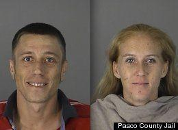 """Mindi and David Rice were engaging in a three-way with a female friend, but when MIndi noticed David was giving the friend a little too much attention, she allegedly reached for a revolver. The ensuing madness ended with gunfire, SWAT team involvement and a police tasing. <a href=""""http://www.huffingtonpost.com/2012/09/04/mindi-david-rice-threeway-gunshots-swat-team_n_1855310.html"""" rel=""""nofollow noopener"""" target=""""_blank"""" data-ylk=""""slk:Read the whole story here."""" class=""""link rapid-noclick-resp"""">Read the whole story here.</a>"""