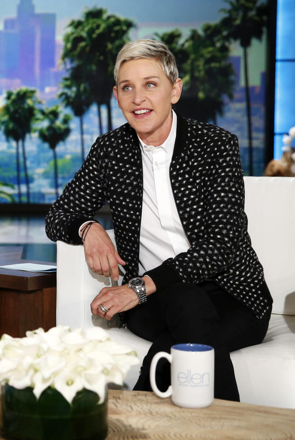 """FILE - Ellen DeGeneres appears during a taping of the """"The Ellen DeGeneres Show,"""" in Burbank, Calif. on May 24, 2016. DeGeneres, who has seen ratings hit after allegations of running a toxic workplace, has decided her upcoming season next year will be the last. It coincides with the end of her contract. (AP Photo/John Locher, File)"""