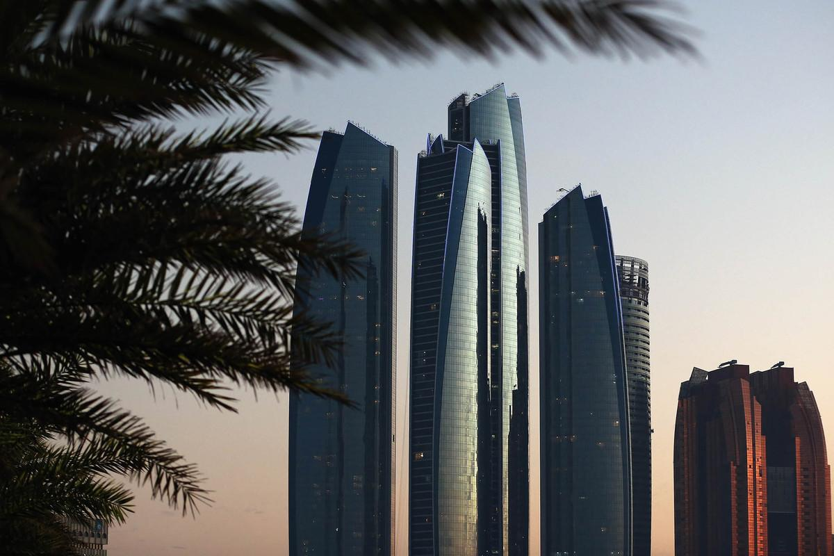 ABU DHABI, UNITED ARAB EMIRATES - FEBRUARY 04: A general view of high rise buildings on February 4, 2015 in Abu Dhabi, United Arab Emirates. Abu Dhabi is the capital of the United Arab Emirates and the second most populous city after Dubai with a population of around two million people. (Photo by Dan Kitwood/Getty Images)