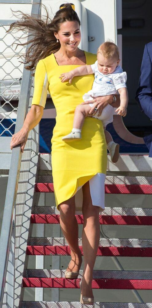 Kate Middleton and Prince George in 2014 | Samir Hussein/WireImage