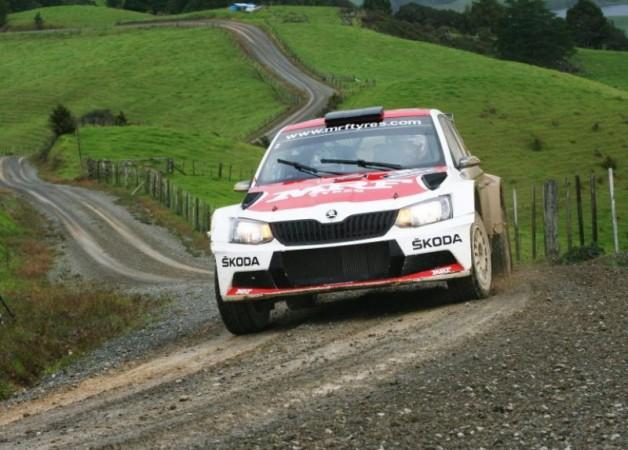 Gaurav Gill in his Skoda Fabia R5