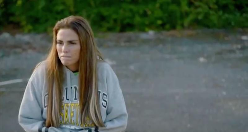 A downcast Katie in the trailer for her latest reality show (Photo: Quest Red)