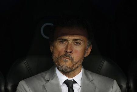 Barcelona coach Luis Enrique before the match
