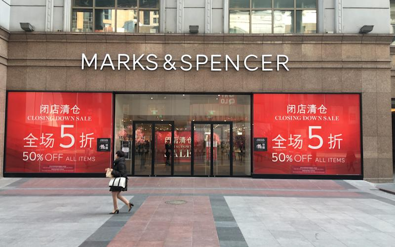 Marks and Spencer Beijing. 50 percent off closing down sale - Neil Connor/Telegraph