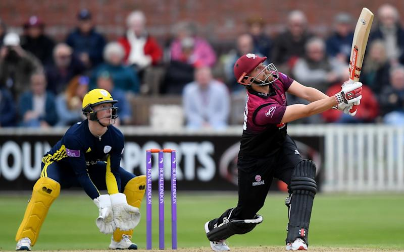 James Hildreth batting for Somerset against Hampshire at Taunton on 5 May - Getty Images Europe