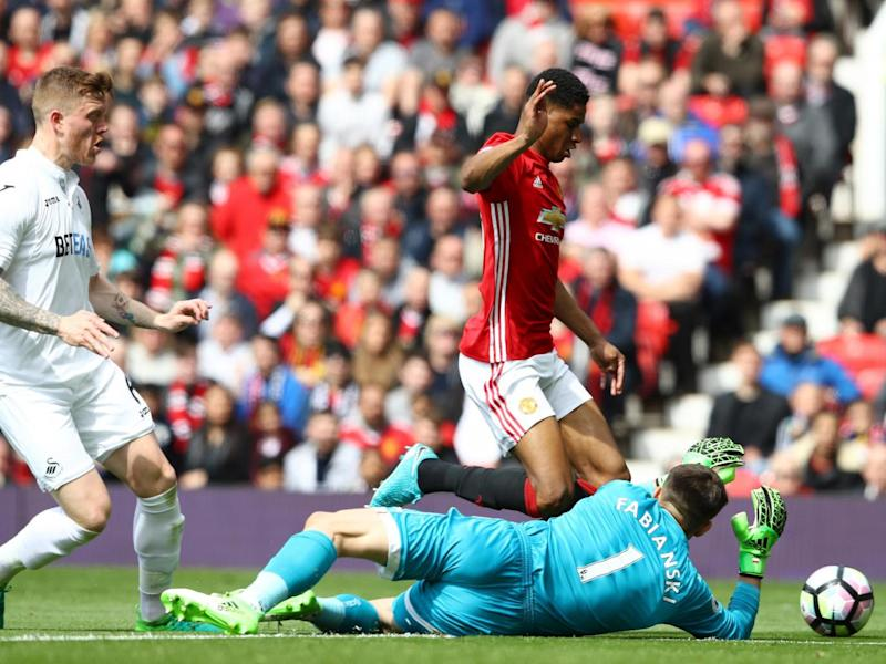 Rashford has been criticised for going down so easily (Getty Images)
