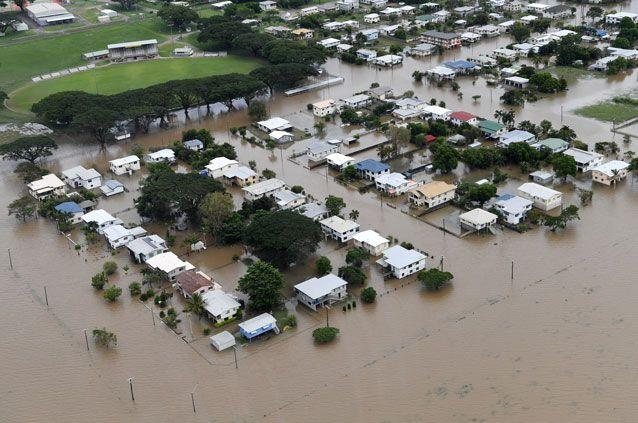 The streets of Ingham were flooded over the weekend from wild weather. Source: AAP