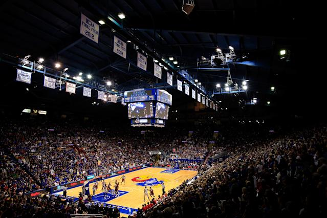 Kansas is losing a significant recruit as major NCAA violations loom. (Photo by Jamie Squire/Getty Images)