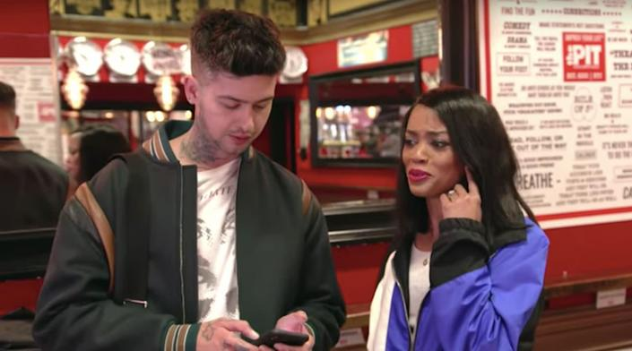 """Travis Mills and Rachel Lindsay are the co-hosts of MTV's upcoming series """"Ghosted."""" (Photo: YouTube)"""