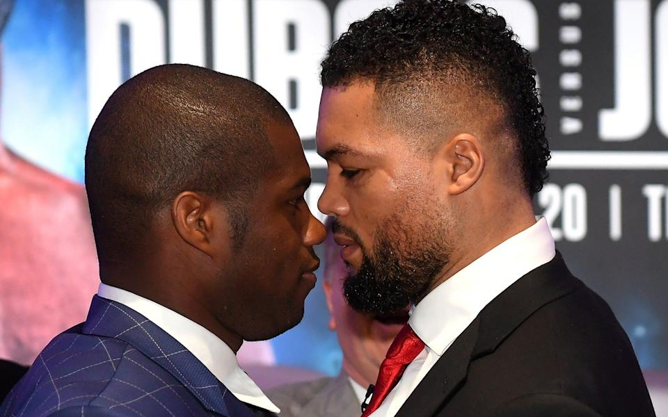 Daniel Dubois (left) and Joe Joyce (right) face off - GETTY IMAGES