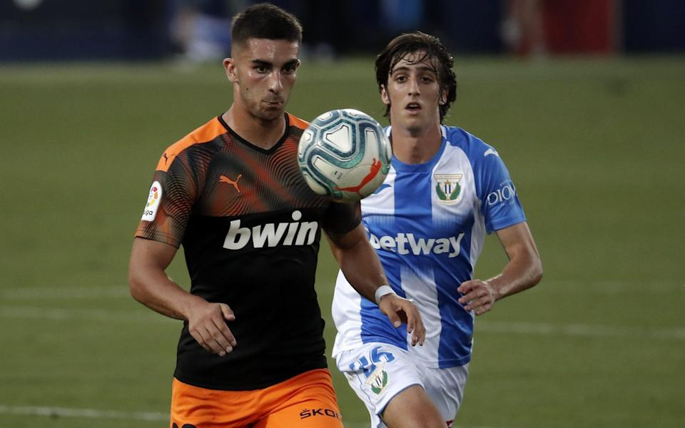 Ferran Torres in action for Valencia - GETTY IMAGES