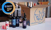 """<p><a class=""""link rapid-noclick-resp"""" href=""""https://go.redirectingat.com?id=74968X1596630&url=https%3A%2F%2Fus.nakedwines.com%2FAWIN100&sref=https%3A%2F%2Fwww.delish.com%2Fentertaining%2Fwine%2Fg31669054%2Fwine-subscription%2F"""" rel=""""nofollow noopener"""" target=""""_blank"""" data-ylk=""""slk:BUY NOW"""">BUY NOW</a> <strong><em>$40 per month for 1 bottle</em></strong></p><p>Don't balk at that price before we explain: This works a bit differently than normal wine clubs in that you're more of an investor than a customer. When you sign up with NakedWines.com as an """"angel,"""" you pledge to donate $40 every month to independent winemakers. And as a thank you, you're sent a free bottle from one of those winemakers, plus you get access to early releases and exclusive bottles.</p>"""