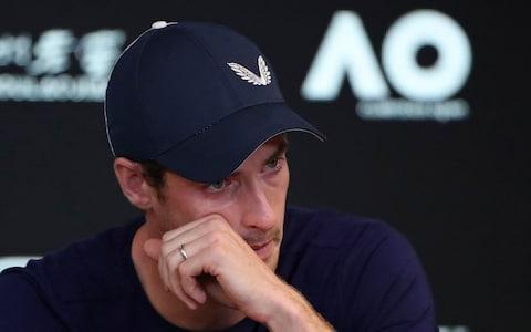 <span>Emotion pours over Andy Murray at Friday's press conference in Melbourne</span> <span>Credit: getty images </span>