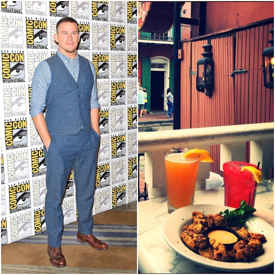 "<p>Actor Channing Tatum opened a red-light-district, bordello-inspired New Orleans bar and restaurant <a rel=""nofollow"" href=""http://saintsandsinnersnola.com/"">Saints and Sinners</a> in November 2012 with business partner Keith Kurtz. It offers up southern favourites such as jambalaya, blackened crawfish and seafood gumbo. The cocktails list is extensive and features drinks named Burlesque Stress, Cajun Sinner and Love Potion #10 among others. <br />(Canadian Press/Instagram) </p>"