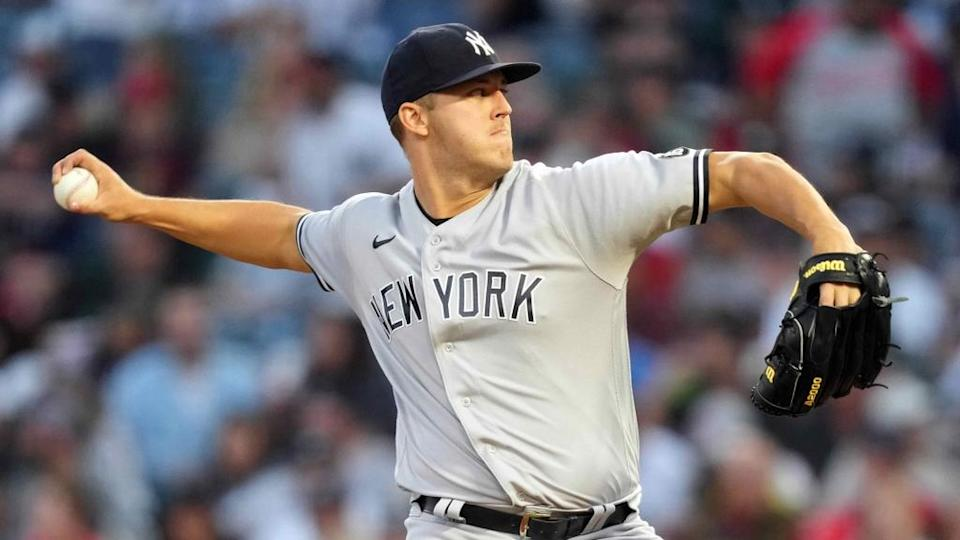 Jameson Taillon pitching road grey uniform side angle Angels