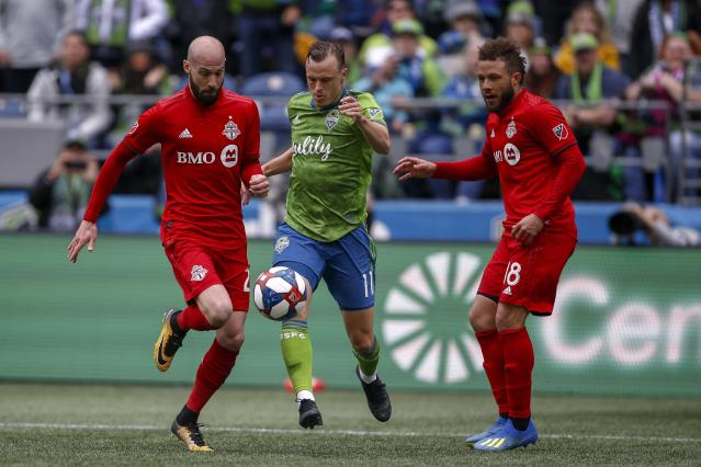 Toronto FC and the Seattle Sounders will meet at MLS Cup for the third time in four years. (Jennifer Buchanan/USA Today)