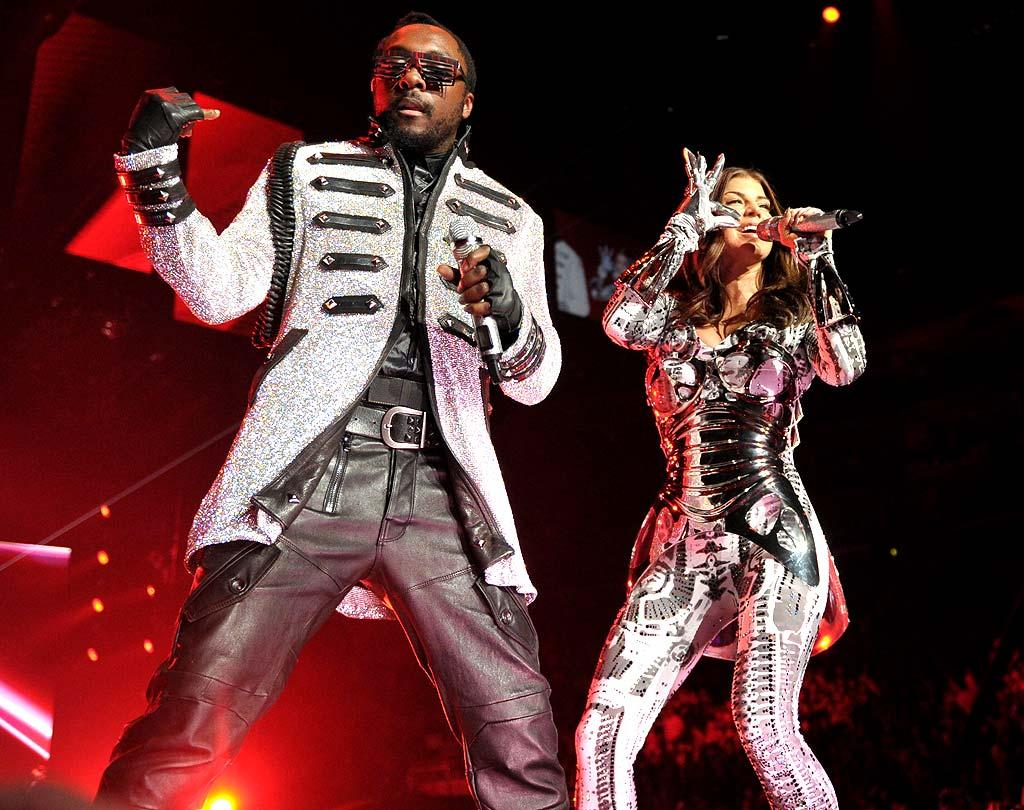 """will.i.am, Fergie, and the rest of the Black Eyed Peas performed their many hits to a sold-out crowd at the Staples Center in Los Angeles on Monday night. John Shearer/<a href=""""http://www.wireimage.com"""" target=""""new"""">WireImage.com</a> - March 29, 2010"""