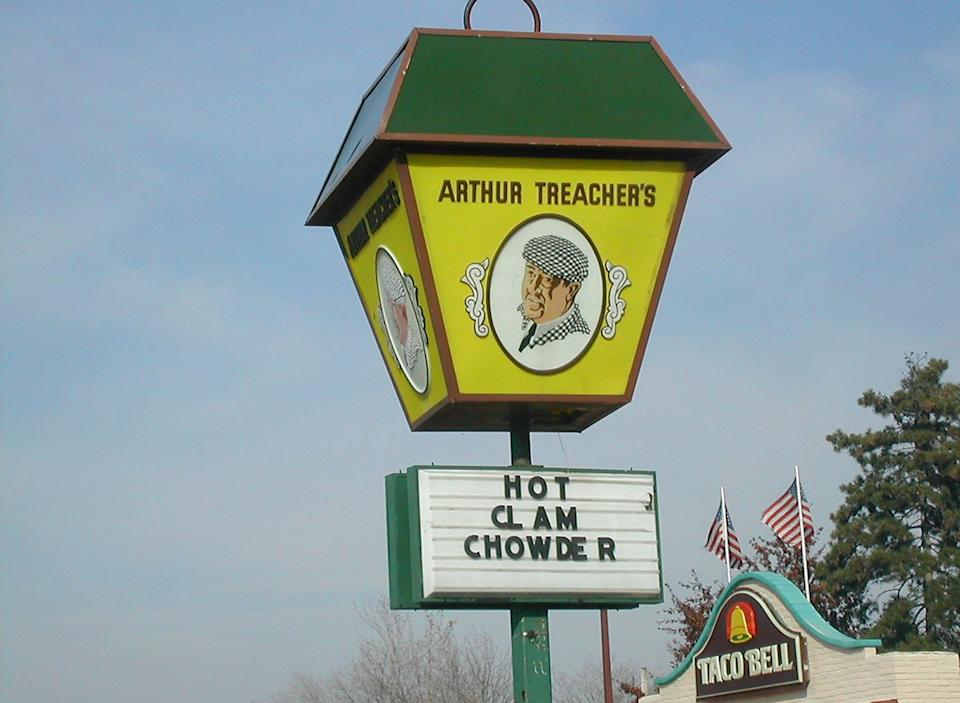 arthur treachers vintage sign
