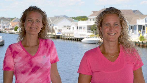 PHOTO: Twin sisters Meagan McCallam and Courtney Werner shared a duplicate breast cancer diagnosis at the age of 42. (Meagan McCallam)
