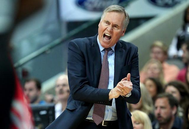 Mike D'Antoni does think about the Rockets' defensive ability. (Getty Images)