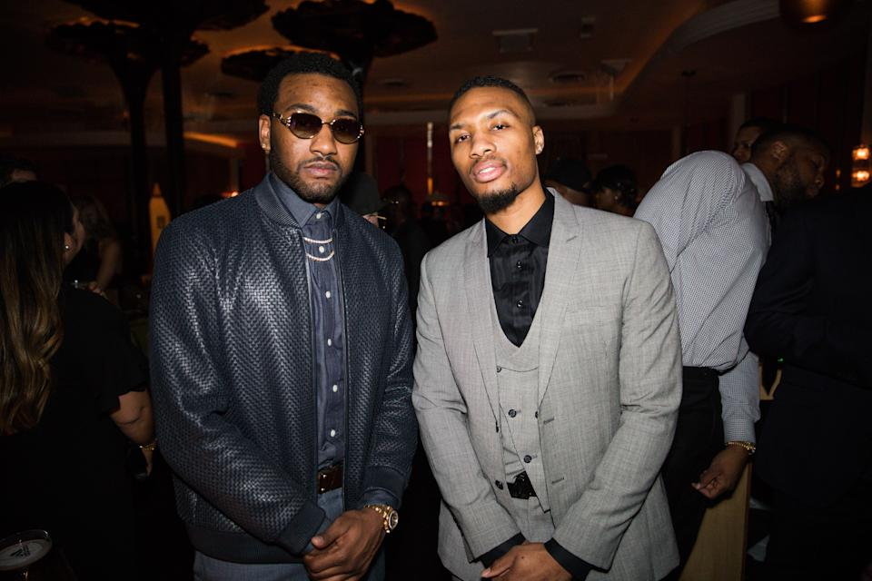 Wizards and Blazers stars John Wall and Damian Lillard are among the league leaders in irrational confidence. (Getty Images)