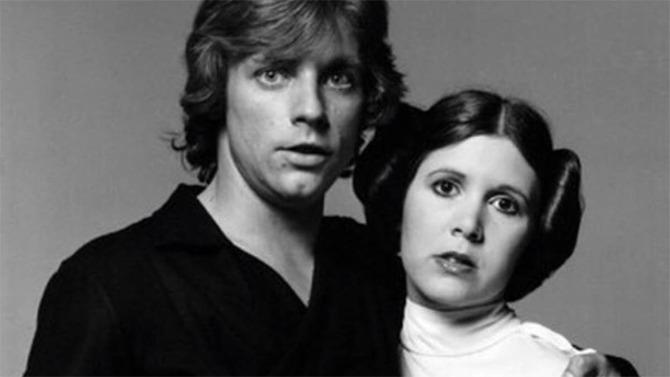 Mark Hamill y Carrie Fisher.