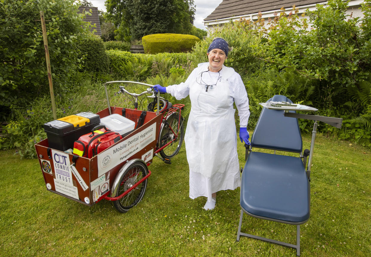 Fiona Perry has been doing treatments in gardens amid a massive backlog of demand due to COVID. (SWNS)