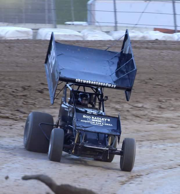 Sprint cars are race cars that run on circular dirt tracks at speeds of over 250 km/h.