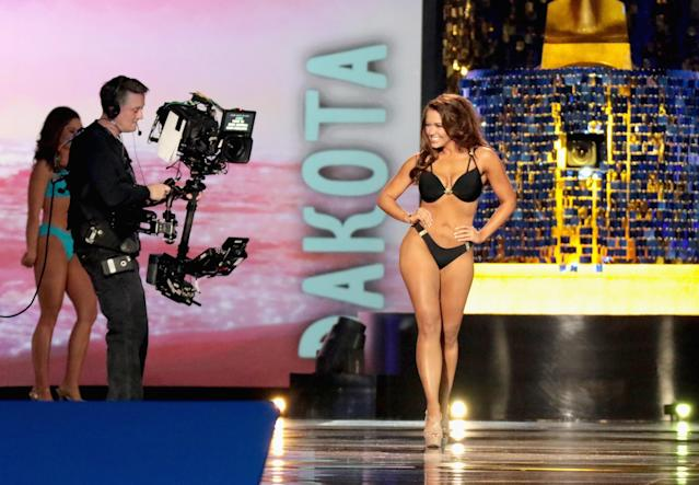 Miss America 2018, Cara Mund, participated in the swimsuit competition last year but is supporting the decision to end it. (Photo: Donald Kravitz/Getty Images for Dick Clark Productions)