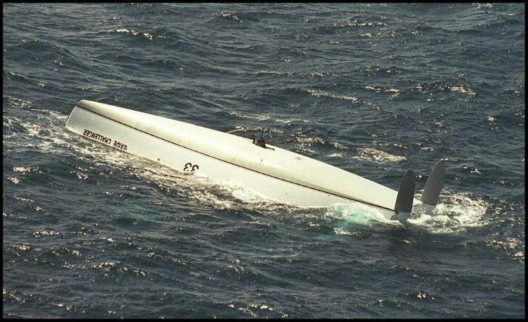Tony Bullimore survived four days in an air pocket in the hull of his overturned boat
