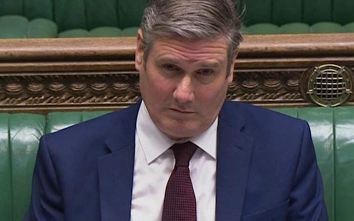 """Sir Keir Starmer was involved in """"a minor road traffic accident on Sunday"""" - PA"""