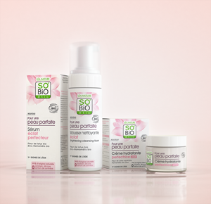 SO'BiO étic®, which is launching its certified organic skincare products in the U.S., is the No. 1 brand in France in natural and organic cosmetics, with total annual revenue exceeding $77 million. The cosmetics are created in a state-of-the-art eco-friendly factory, with unique technologies in France. The launch will focus on SO'BiO étic's® major product line: Pour une Peau Parfaite, or Perfect Skin, a simple skincare routine based on the sacred lotus flower from Vietnam, which fights against the first signs of aging: