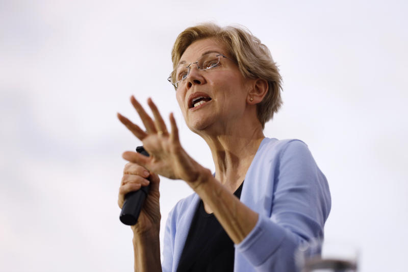 Democratic presidential candidate Sen. Elizabeth Warren speaks at a town hall meeting, Thursday, Sept. 19, 2019, in Iowa City, Iowa. (AP Photo/Charlie Neibergall)