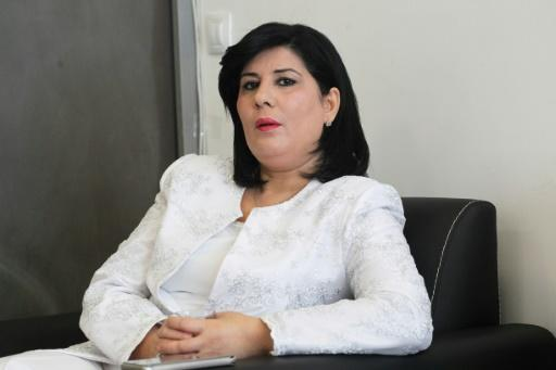 Abir Moussi, president of the Free Destourian Party  -- one of two female candidates to qualify for Tunisia's presidential poll