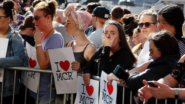 PHOTO: People attend a vigil in Albert Square, Manchester, England, May 23, 2017. (Kirsty Wigglesworth/AP Photo)