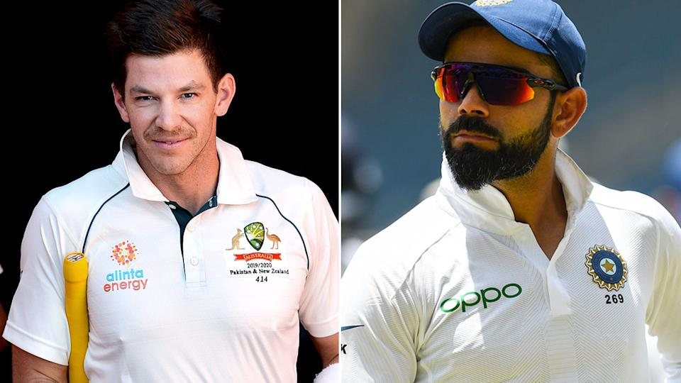 Tim Paine and Virat Kohli had a history of bad blood between them. Pic: Getty